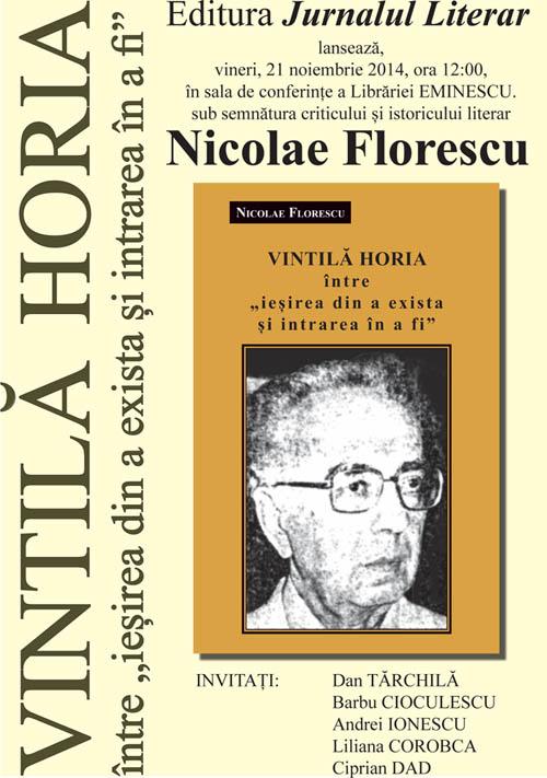 Lansarea cărții Vintilă Horia
