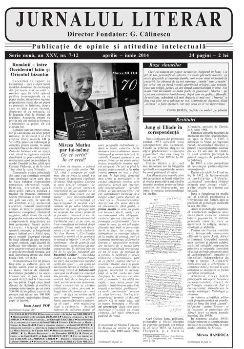 Prima pagină Jurnalul literar 7-12 aprilie-iunie 2014